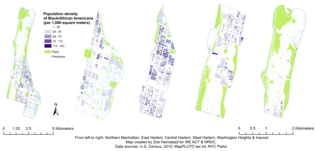 Map Distribution of Blacks in Northern Manhattan