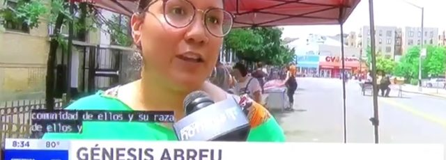 Génesis Abreu on NY1 Noticias – July 28, 2018