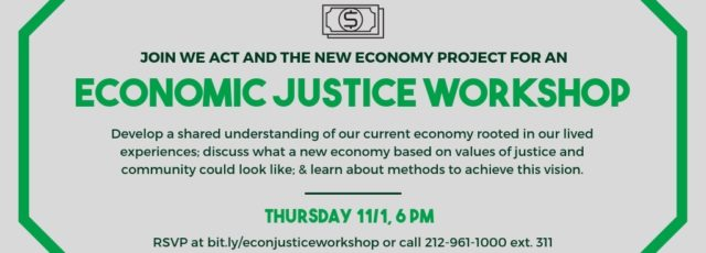 Economic Justice Workshop