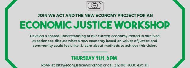 Economic Justice Workshop