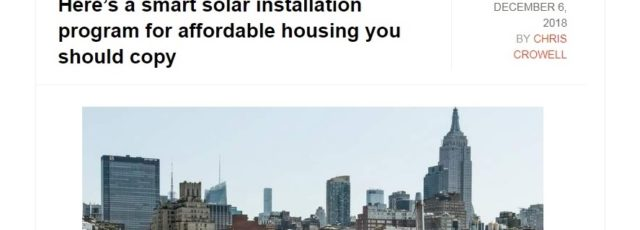 Solar Uptown Now in Solar Builder Magazine – December 6, 2018