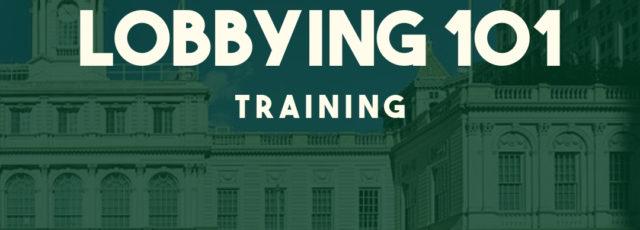 Lobbying 101 Training