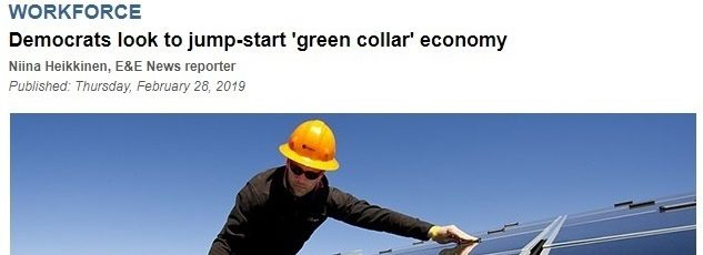 Green Jobs Panel in E&E Daily – February 28, 2019