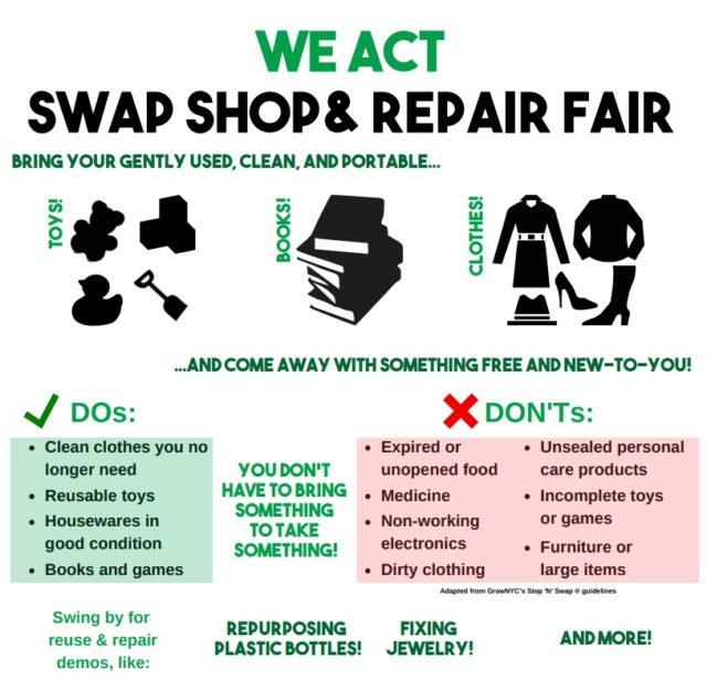 Swap Shop Amp Repair Fair We Act For Environmental Justice