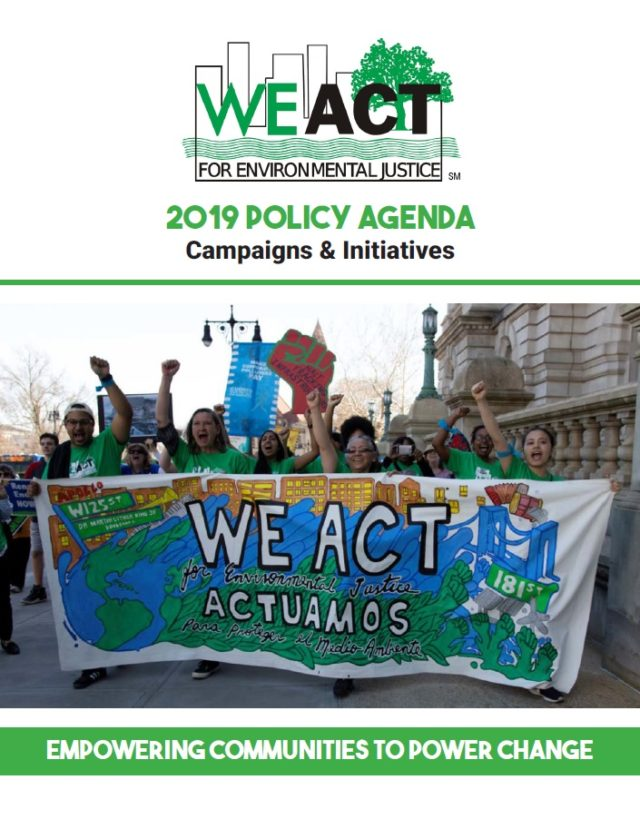 2019 Policy Agenda - WE ACT for Environmental Justice
