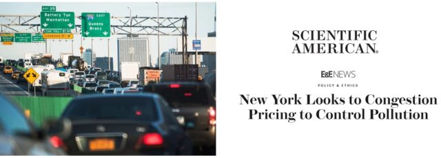 Cecil Corbin-Mark on Congestion Pricing in Scientific American – April 2, 2019