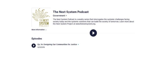 Michael Velarde Talks About Our East 125th Street Plan on the Next System Project Podcast – May 31, 2019
