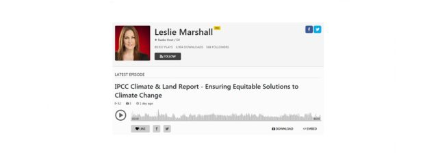 Kerene Tayloe Talks About Climate Justice on the Leslie Marshall Show – August 14, 2019