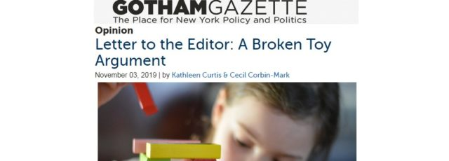 Cecil Corbin-Mark Co-Authors Gotham Gazette Op-Ed in Support of the Child Safe Products Act – November 3, 2019