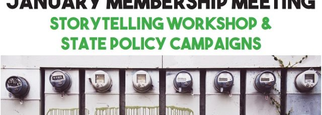 January Membership Meeting: Storytelling & State Policy