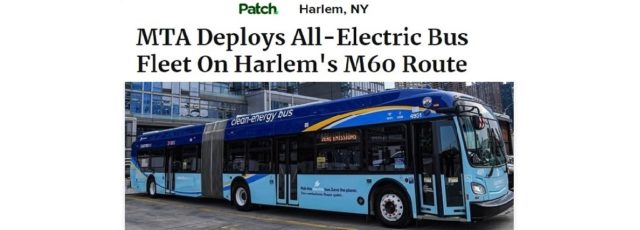 Cecil Corbin-Mark Quoted in Patch on the MTA's Introduction of Electric Buses in Harlem – January 29, 2020