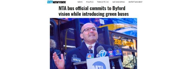 Cecil Corbin-Mark Quoted in amNewYork on the MTA's Introduction of Electric Buses in Harlem – January 29, 2020