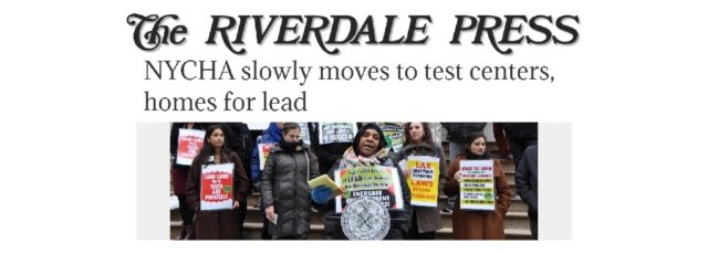 WE ACT Featured in NYCHA Lead Story in the Riverdale Press – March 15, 2020