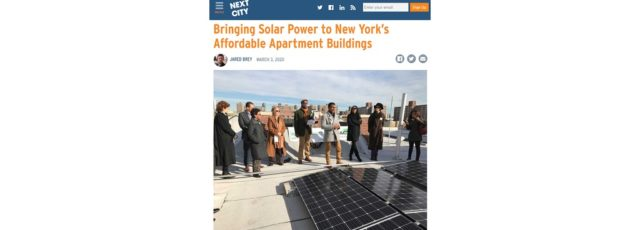 WE ACT's Solar Work Featured in Next City – March 3, 2020