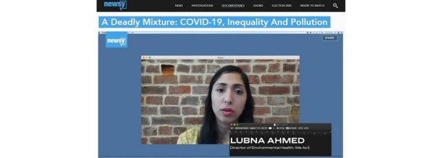 Lubna Ahmed Talks to Newsy About the Impact of Air Pollution on COVID-19 – May 4, 2020