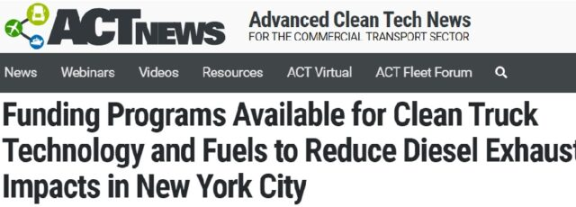 Cecil Corbin-Mark Discusses Disparate Impacts of Diesel Emissions in ACT News – June 18, 2020