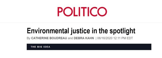 Peggy Shepard on the Environmental Justice Movement & NBEJN in Politico – June 16, 2020