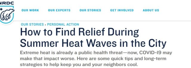 Cecil Corbin-Mark Talks About Heat Vulnerability with NRDC – July 13, 2020