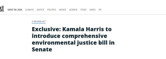 Kerene Tayloe Voices Our Support for the Environmental Justice for All Act in Grist – July 30, 2020