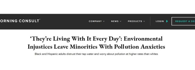 Peggy Shepard on How Environmental Racism Shapes Environmental Views of People of Color in Morning Consult – July 6, 2020