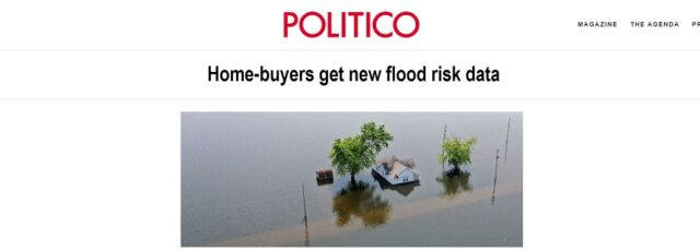 Peggy Shepard Comments on Including Flood Risk in Real Estate Listings in Politico – August 26, 2020