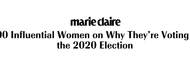"Peggy Shepard Among the ""100 Influential Women"" Explaining ""Why I'm Voting"" in Marie Claire – August 11, 2020"