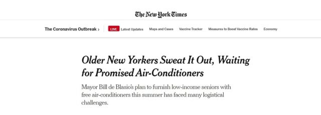 Sonal Jessel Voices Concern About NYC's Get Cool Program in the New York Times – August 21, 2020