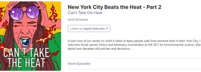 Sonal Jessel Talks About Extreme Heat and Climate Justice on Can't Take the Heat – September 3, 2020