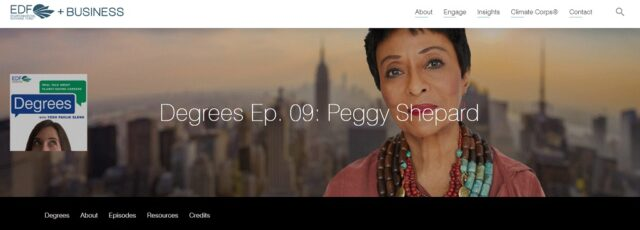 Peggy Shepard Interviewed on EDF+Business Degrees Podcast – January 18, 2021