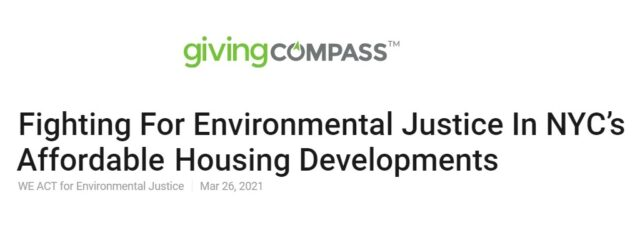 Corina Fuentes Environmental Health in Affordable Housing Op-Ed in Giving Compass – March 26, 2021