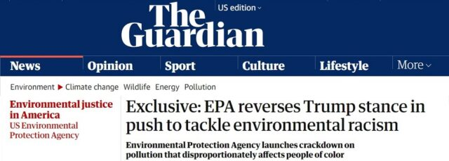 Peggy Shepard Urges EPA to Address Systemic Issues in the Guardian – April 7, 2021