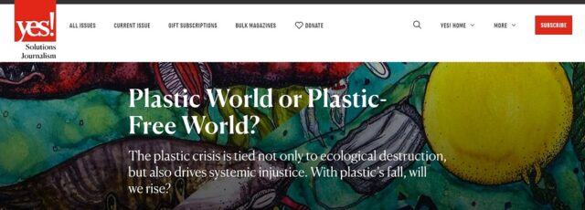Peggy Shepard on the Plastics Crisis in YES Magazine – May 10, 2021